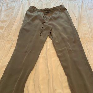 Mendocino 100% silk grey pants